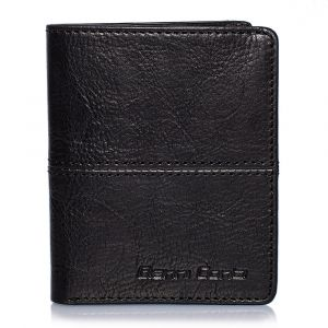 Gianni Conti Black Leather Wallet with Card Slots