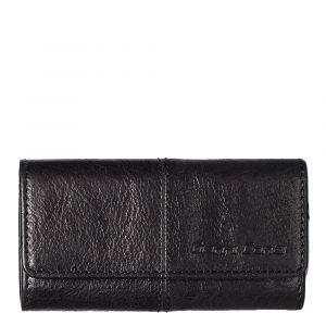 Gianni Conti Black Leather Key Holder with Key Rings
