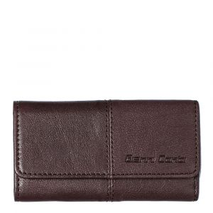 Gianni Conti Dark Brown Leather Key Holder with Key Rings