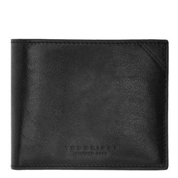 THE BRIDGE Dante Line – Black Leather Card Holder for Men