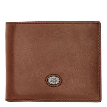 THE BRIDGE Lorenzo Line – Brown Leather Card Holder Made in Italy