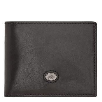 THE BRIDGE Lorenzo Line – Black Leather Card Holder Made in Italy