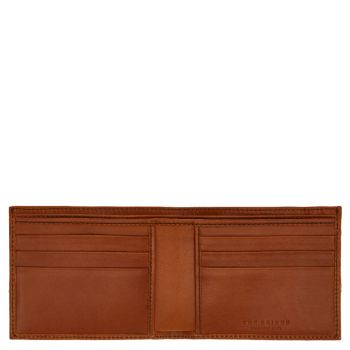 THE BRIDGE Giannutri Line – Small Cognac Leather Wallet Made in Italy