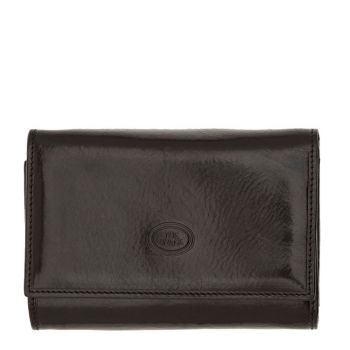 THE BRIDGE Story Line – Black Leather Wallet with Button