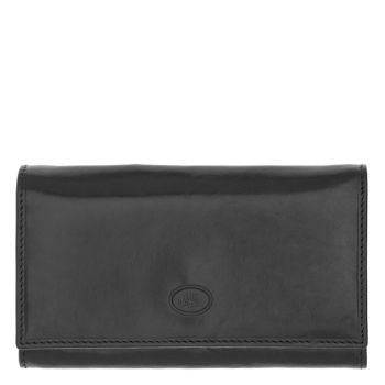 THE BRIDGE Story Line – Black Leather Wallet with Clip Closure