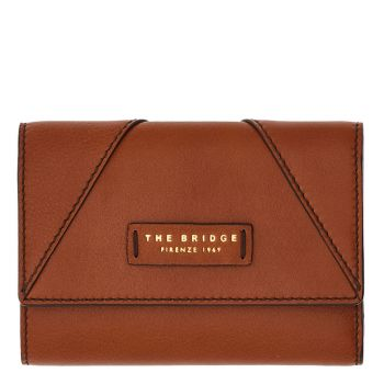 THE BRIDGE Tintori Line - Cognac Leather Wallet with Botton