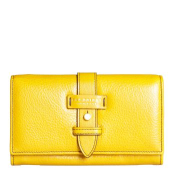 THE BRIDGE Maria Line – Yellow Leather Wallet for Women
