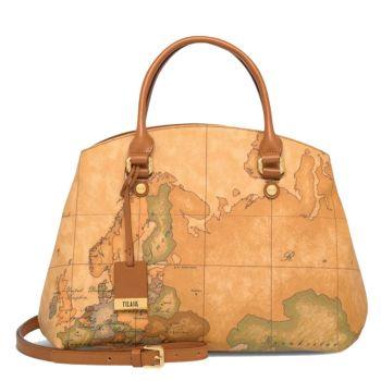 Женская сумка с двумя ручками 1A Classe Alviero Martini, линия Geo Classic D075. Made in Italy
