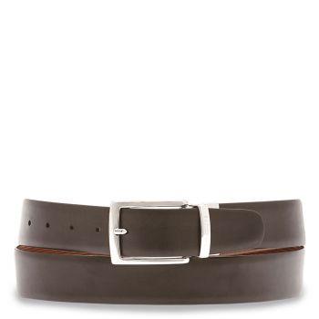 THE BRIDGE Brunelleschi Line – Black Brown Double-face Leather Belt for Men
