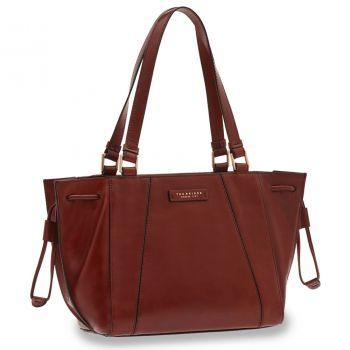 THE BRIDGE Camilla Line – Bordeaux Leather Tote Bag