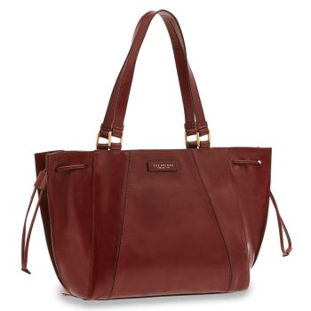 THE BRIDGE Camilla Line – Large Bordeaux Leather Tote Bag