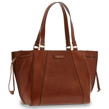 THE BRIDGE Camilla Line – Large Brown Leather Tote Bag