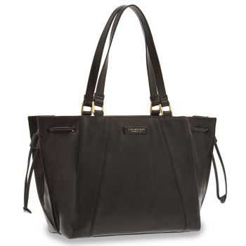 THE BRIDGE Camilla Line – Large Black Leather Tote Bag