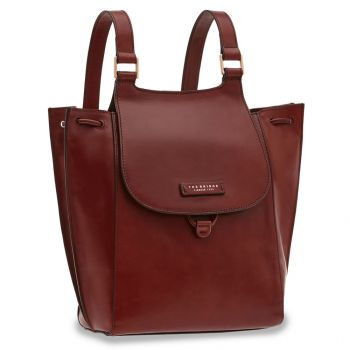 THE BRIDGE Camilla Line – Bordeaux Leather Backpack for Her