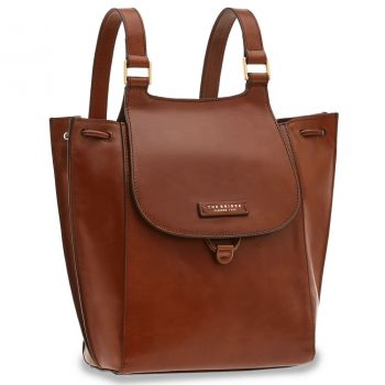 THE BRIDGE Camilla Line – Brown Leather Backpack for Her