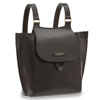 THE BRIDGE Camilla Line – Black Leather Backpack for Her