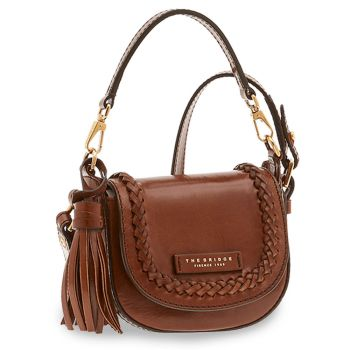 THE BRIDGE Murakami Line – Small Brown Leather Crossbody Bag for Women