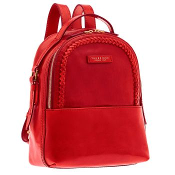 THE BRIDGE Red Leather Backpack Murakami Line