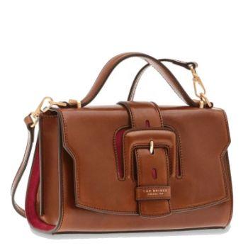 THE BRIDGE Fiorenza Line – Small Brown Leather Handle Bag
