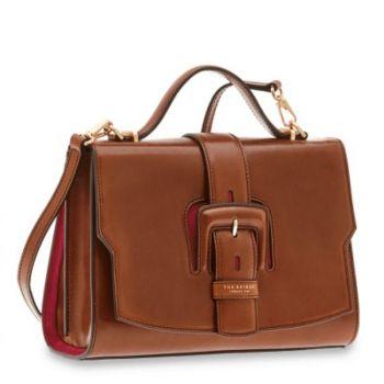 THE BRIDGE Fiorenza Line – Medium Brown Leather Handle Bag