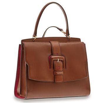 THE BRIDGE Fiorenza Line – Brown Leather Handle Bag
