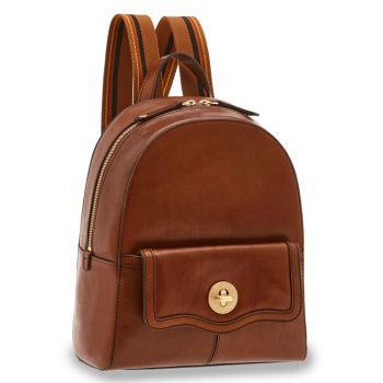 THE BRIDGE Agnese Line – Brown Leather Backpack