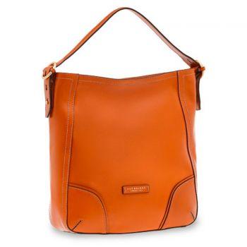 THE BRIDGE Matilde Line – Orange Leather Hobo Bag for Her