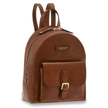 THE BRIDGE Giovanna Line – Brown Leather Backpack for Women