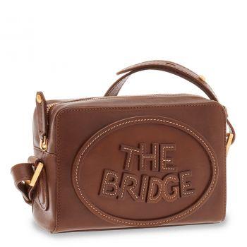 THE BRIDGE Penelope Line – Brown Leather Crossbody Bag