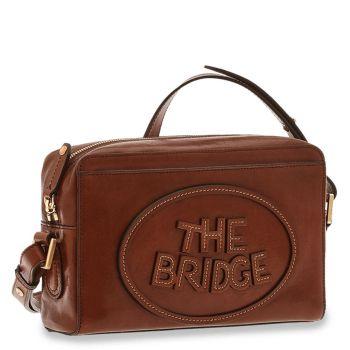 THE BRIDGE Penelope Line – Brown Leather Crossbody Bag with Zip