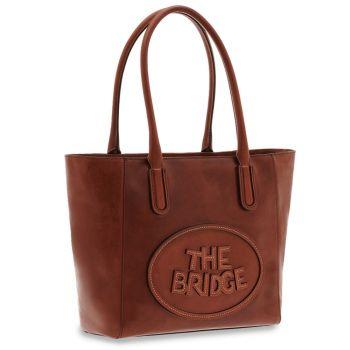 THE BRIDGE Penelope Line – Medium Brown Leather Tote Bag