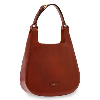 THE BRIDGE Lucia Line – Bordeaux Leather Hobo Bag 0431310103