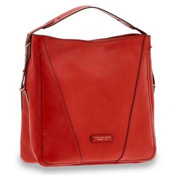 THE BRIDGE Tintori Line – Red Leather Hobo Bag