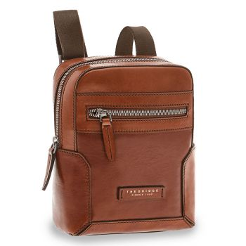 THE BRIDGE Neri Line – Brown Leather Crossbody Bag Made in Italy
