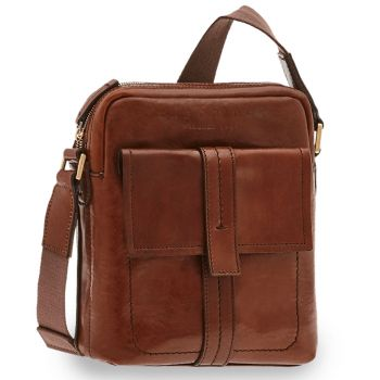 THE BRIDGE Vacchereccia Line – Medium Brown Leather Man Purse