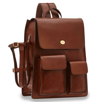 THE BRIDGE Story Line – Brown Leather Backpack with Pc Compartment