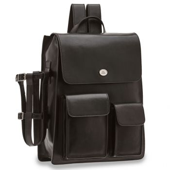 THE BRIDGE Story Line – Black Leather Backpack with Pc Compartment
