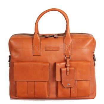 THE BRIDGE Serristori Line – Cognac Leather Portfolio Pc Bag