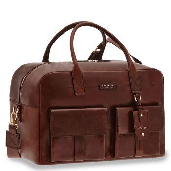 THE BRIDGE Serristori Line – Brown Leather Travel Bag