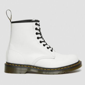DR. MARTENS 1460 Line – White Leather Ankle Boots