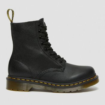DR. MARTENS 1460 Pascal Virginia Line – Black Leather Ankle Boots