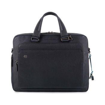 Портфель с двумя ручками PIQUADRO для ноутбука 15 дюймов и iPad - CA4027B3 из синей кожи