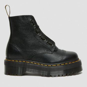DR. MARTENS Sinclair Line – Black Leather Platform Boots