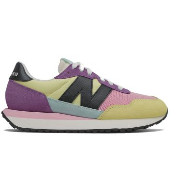 NEW BALANCE 237 Line – Lemon Sour Grap Suede and Mesh Sneakers for Women