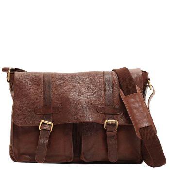 "Messenger Man Porta Pc 13 ""Leather Brown - Gianni Conti"