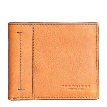THE BRIDGE Serristori Line – Cognac Tumbled Leather Wallet for Men