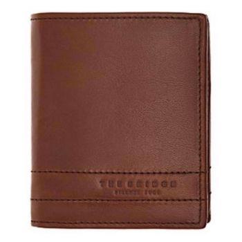 THE BRIDGE Soderini Line – Brown Leather Vertical Wallet