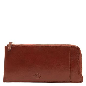 THE BRIDGE Story Line - Unisex Brown Leather Wallet with Zip Fastening