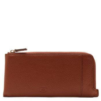 THE BRIDGE Story Line - Unisex Brown Printed Leather Wallet with Zip