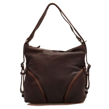 Женская сумка через плечо из коричневой кожи - GIANNI CONTI